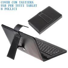 CUSTODIA COVER CON TASTIERA USB PER TUTTI TABLET 8 POLLICI