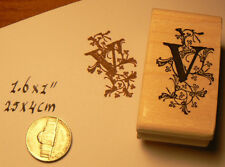 Monogram Letter V rubber stamp  WM P41