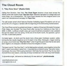 (AS983) The Cloud Room, Hey Now Now - DJ CD