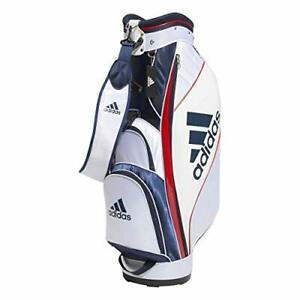 adidas Golf Men's Cart Caddy Bag MAST HUB 9 x 47 inch 2.9kg White Navy BG330