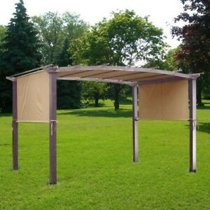 17x6.5Ft Pergola Canopy Replacement Cover Outdoor Yard Patio Tan 180g UV20+