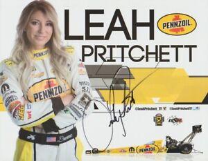 2017 Leah Pritchett Pruett signed Pennzoil Top Fuel Las Vegas NHRA Hero Card