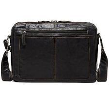 Jack Georges Voyager Zip Top Leather Messenger Bag - 7313