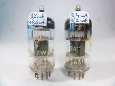 two RT 12AT7WA ECC81 E81CC, matched near NOS pair preamplifier pair audio tube