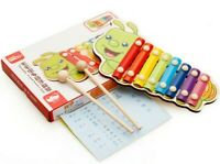 Kids Piano Music Toys Knock 8 Note Xylophone Wooden Toddler Educational Learning