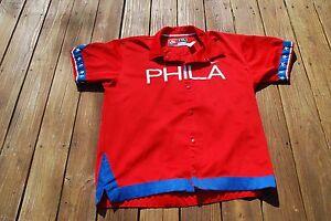 Philadelphia 76ers Men's XX:L 1966 Replica Snap Up Warm Up Jacket by Nike