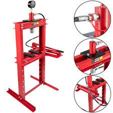 Hydraulic Shop Press Floor Shop Equipment 12 Ton Jack Stand w/ Hand Pump Gauge