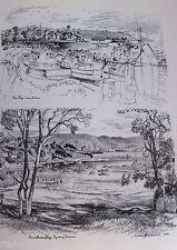 Vintage Original Cedric Emanuel Print 1970- Rose Bay & Vaucluse Bay, Sydney