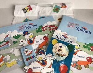 1991 Spanair Airways Airlines Kids Children's Fun Pack in Flight Magazine Jigsaw