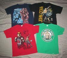 WWE Smackdown Live & WWE RAW John Cena Youth XL Lot 4 pc wrestling T shirts