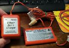NIKKO 9.6 V NiCd Red RECHARGEABLE BATTERY PACK 1296 & CHARGER 1294 Tested works