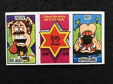 A&BC 1972 Fantastic Twisters Card Number 12 - Unfolded Complete Card