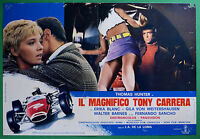 T39 Fotobusta El Magnifico Tony Carrera Coche Car Thomas Hunter Erika Blanc 3