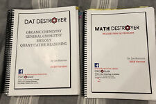 DAT and  Math Destroyer - 2018 edition - 2 Books