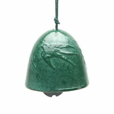 Japanese Furin Wind Chime Nambu Cast Iron Green Willow Swallow, Made in Japan