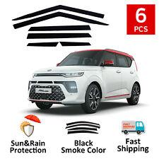 New Smoke Window Vent Visor Sun Rain Guard 6 Pcs Set for Kia Soul Booster 2020