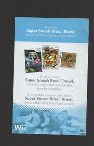 If You Like Super Smash Bros Brawl Nintendo Wii INSERT ONLY Authentic