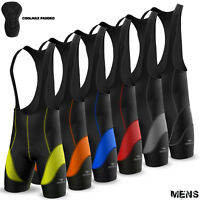 Mens Cycling Bib Shorts Tights Cycle Bicycle Anti-Bac Coolmax Padded All Sizes