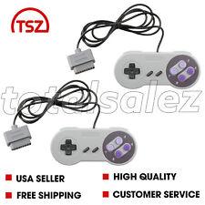 2 For Original Super Nintendo SNES Classic Game Pad Controller Video System