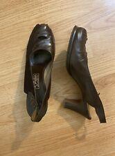 1940s era brown pumps Size 10aa