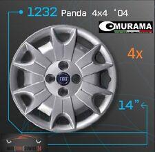 4 Original MURAMA 1232 Radkappen für 14 Zoll Felgen FIAT PANDA 4x4 '04 BLAU LOGO