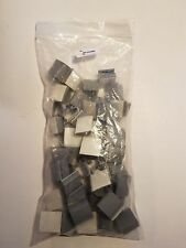 Panduit LC5-A-C8 Adhesive backed latching clip, Grey - New 50 pack free shipping