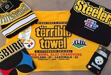Steelers Super Bowl Tailgate Set (T-Shirt, Hat/Cap, Terrible Towel, Koozie) $60+