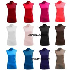 Unbranded Polo Neck Hip Length Tops & Shirts for Women