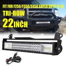 "22"" 1296W LED Light Bar+Front bumper Mount Bracket for F250/F350/F450 Super Duty"