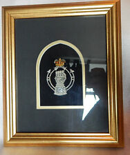 1950's Royal Armoured Corps Bullion Badge Framed