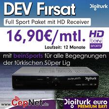 Digitürk Euro Full Spor HD mit beinSports SÜPER LIG inkl. HD Receiver |12 Monate