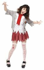 Women's Teen Girls Zombie School Girl Halloween Costume Standard Up to Size 12