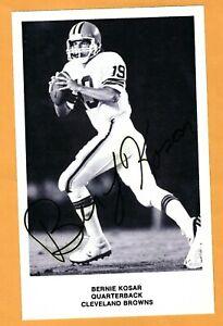 BERNIE KOSAR SIGNED, AUTOGRAPHED 5X8  PHOTO--NFL FOOTBALL--BROWNS