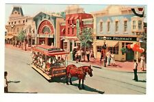 Postcard Disneyland Horse-drawn carriage in front of Upjohn Exhibit. P