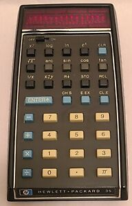 Hewlett-Packard HP-35 Vintage Scientific Calculator UNTESTED - PARTS OR REPAIR