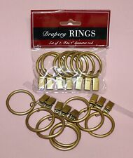 15 Bronze Drapery Clip Rings for 1 Inch Rods
