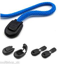 20 PC di plastica nera Cord Lock termina 15 x 19 mm Zipper Pull ZIP Puller termina