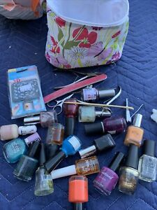 Lot  Nail Polish Pre Owned Plus Tools Untested