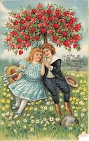 BG20618 flower boy and girl heart geburtstag birthday corner cut   germany