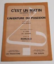Partition vintage sheet music ROMUALD : C'est un Matin (The Morning After) *70's