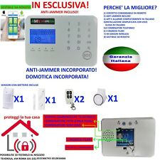 KIT ALLARME ANTIFURTO CASA TOUCH SCREEN SENZA FILI WIRELESS ANTI JAMMER GSM APP