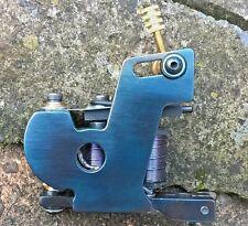 (PACKER) BORDER TATTOO MACHINE IRON BLUED FRAME BLUE 9&HALF LAYER 32MM COILS