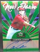 CAMERON CANNON ⭐ 2019 Leaf Valiant  GREEN PRISMATIC /99 Boston Red Sox Prospect