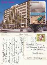 1980's HOTEL ATLANTICO APTS MONTE GORDO ALGARVE PORTUGAL COLOUR POSTCARD