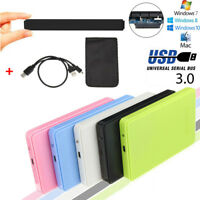 Mobile 2.5 Inch 2TB External Drive USB 3.0/2.0 SATA HDD Enclosure Hard Disk Case