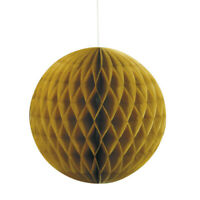 "8"" HONEYCOMB BALL GOLD HANGING DECORATION BIRTHDAY PARTY ADULTS GIRLS LADIES"