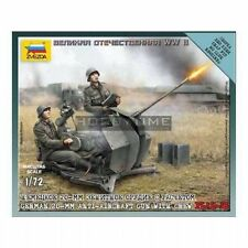 6117  GERMAN 2 CM FLAK 38 WITH CREW - ZVEZDA 1/72 - 20mm - WW2 FLAMES