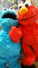 Tickle Me Elmo and Cookie Monster plush Sesame Street toddler infant toy