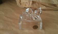 Lead Crystal W/Ball Cat Paperweight - Cristal d'argues