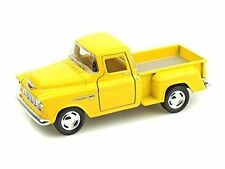 Kinsmart 1955 Chevy Stepside 3100 Pick up truck 1:32 Diecast Model Car Yellow